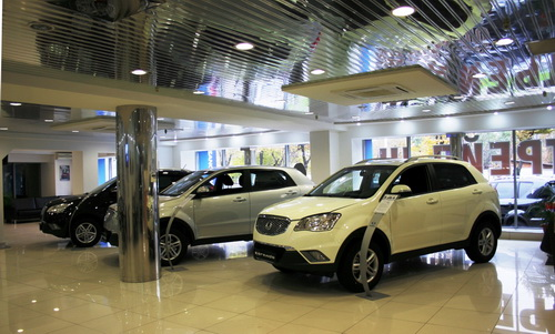 We Cordially Invite You To The Renewed SsangYong Car Showroom - Car show floor covering